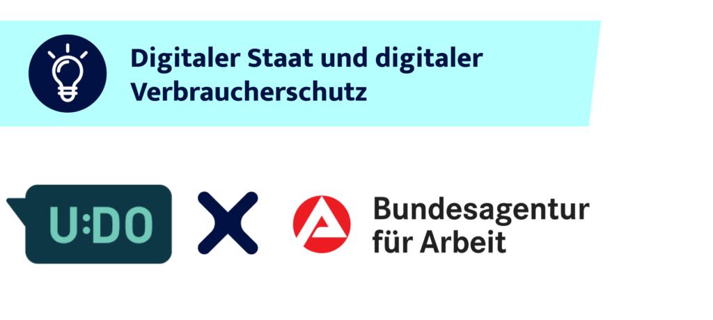 Logos vom Chatbot UDO und der Bundesagentur für Arbeit