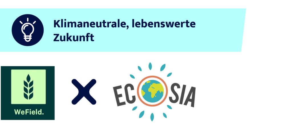 Logos von WeField und Ecosia